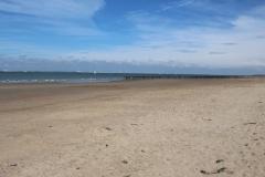 Der Strand in Breskens ist wirklich sehr breit
