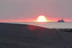 Sonnenuntergang über der Scheldemündung