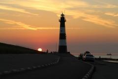Sonnenuntergang am Leuchtturm von Breskens