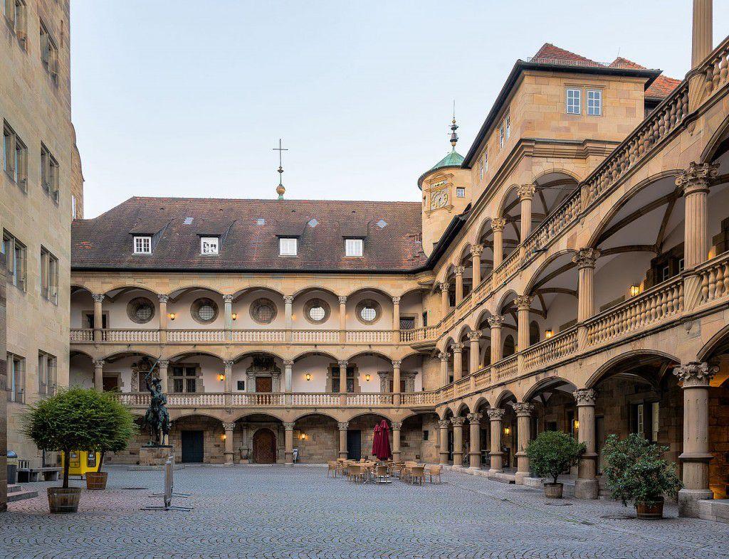 Innenhof im alten Schloss in Stuttgart