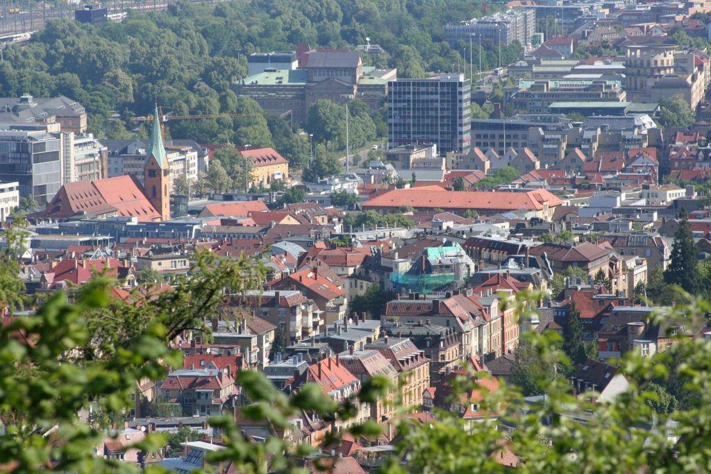 Das Bohnenviertel in Stuttgart (Luftaufnahme)