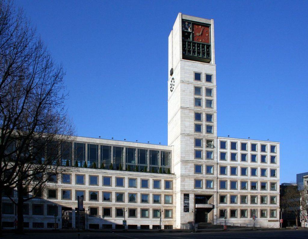 Das neue Rathaus in Stuttgart