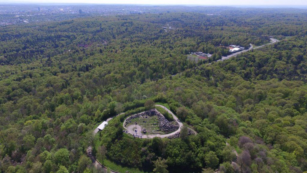 Blick über den Birkenkopf aus luftiger Höhe