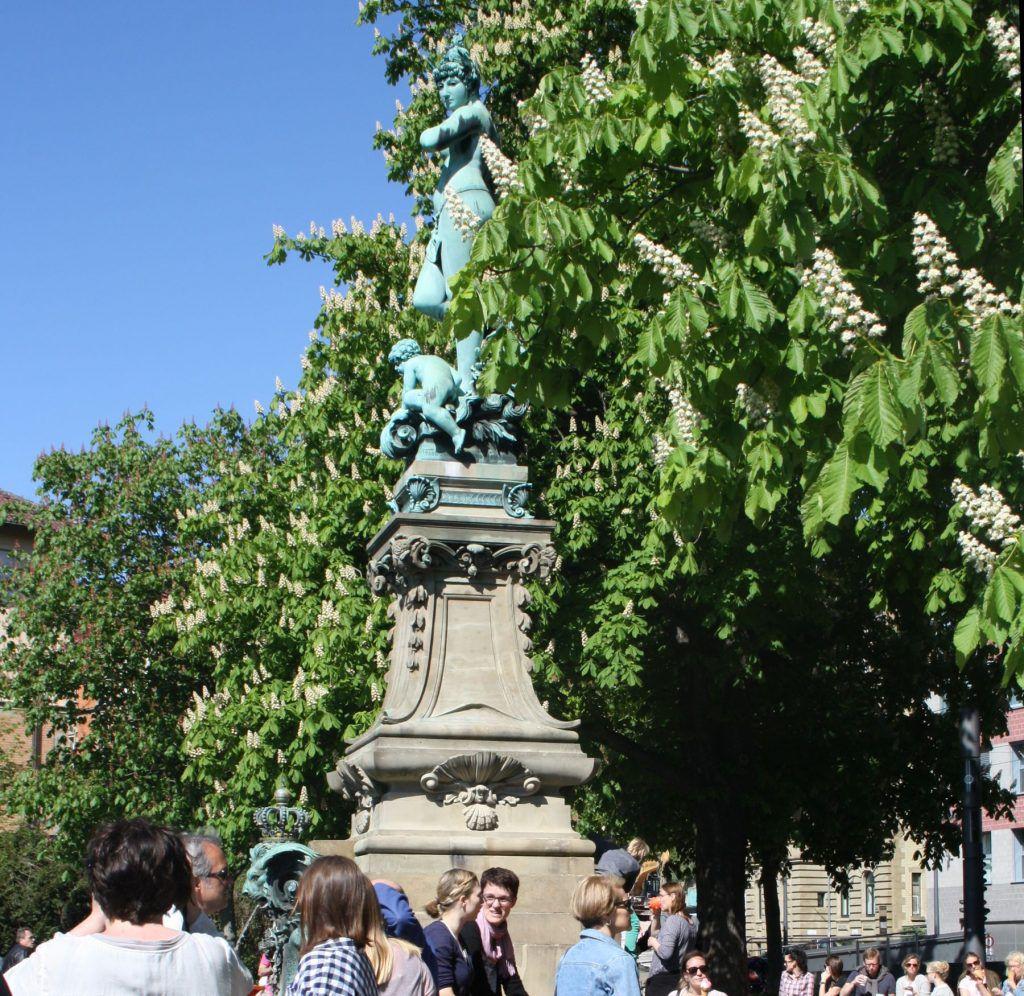 Galatea Statue und Brunnen am Eugensplatz in Stuttgart