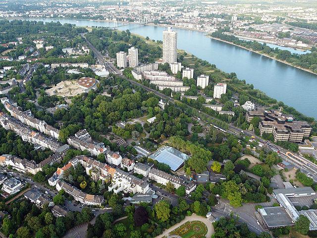 Luftaufnahme des Koelner Zoos