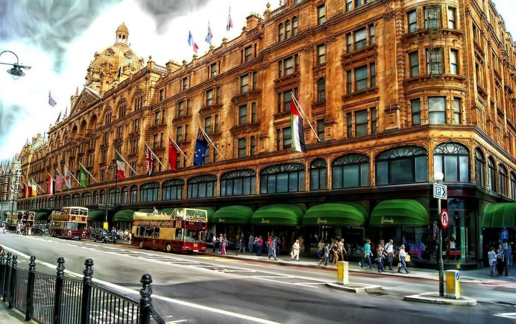 Das Kaufhaus Harrods in London