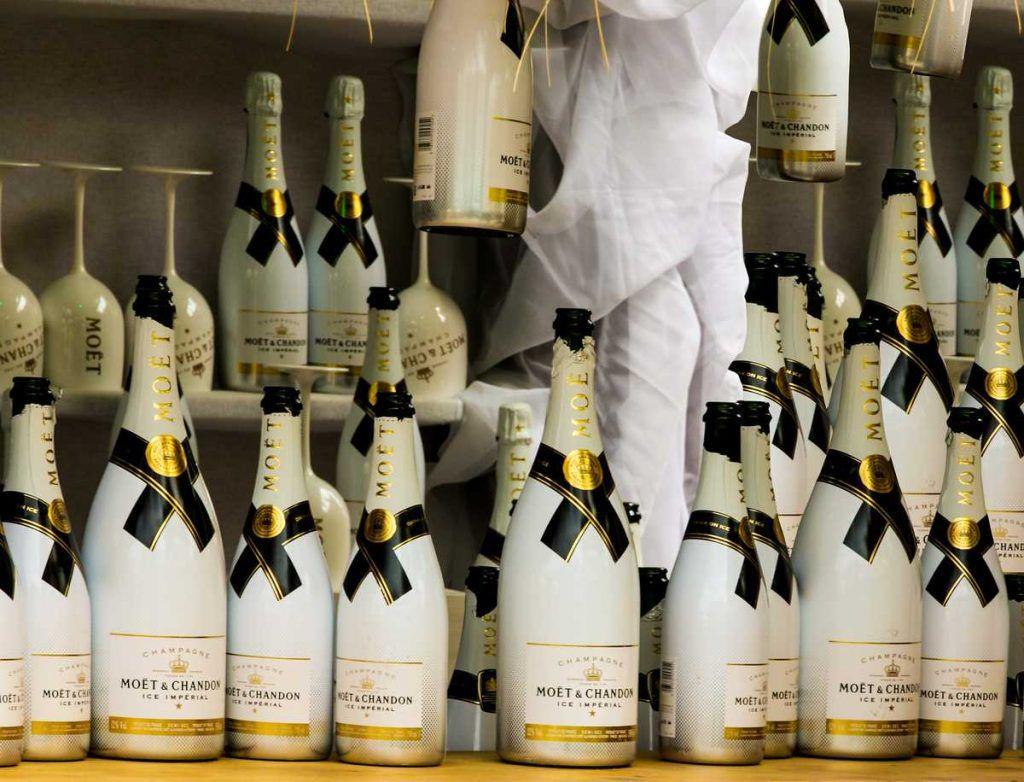 Champagner in Hülle und Fülle