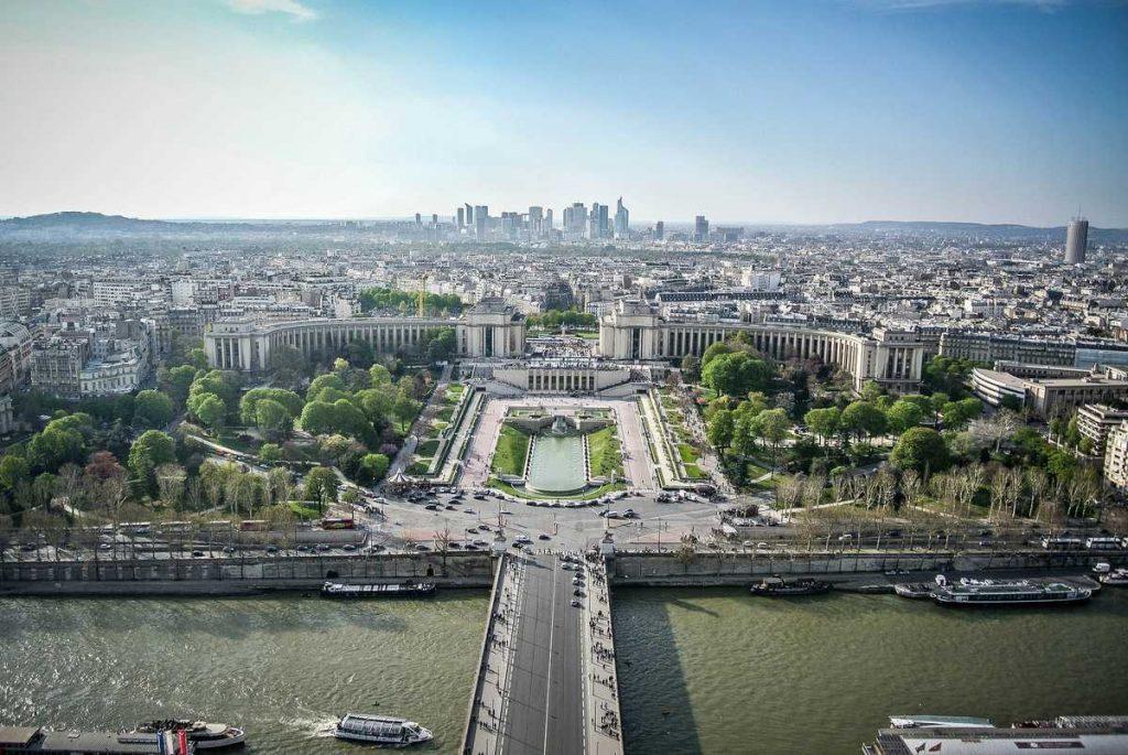 Ein Blick über Paris: Vom Eiffelturm zum-Parc Trocadero