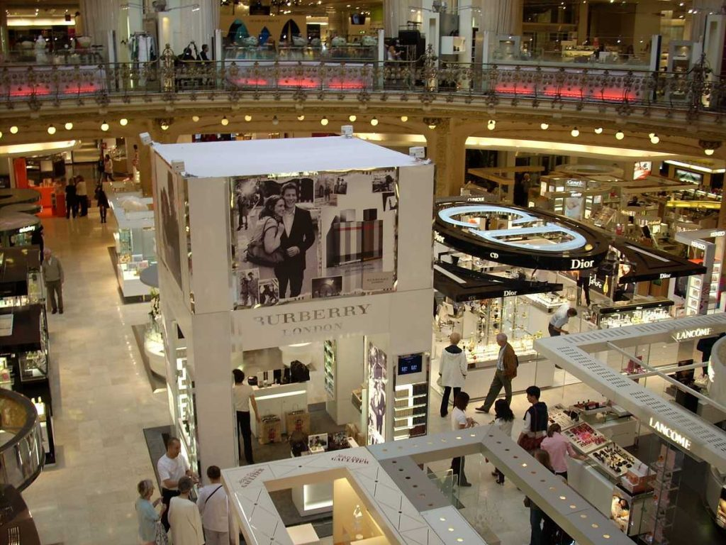 Shoppen in den Galeries Lafayette