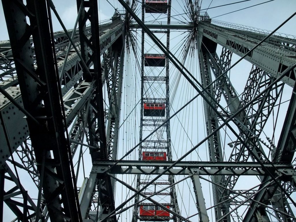 One of the top sights in Vienna: Ferris wheel on the Prater