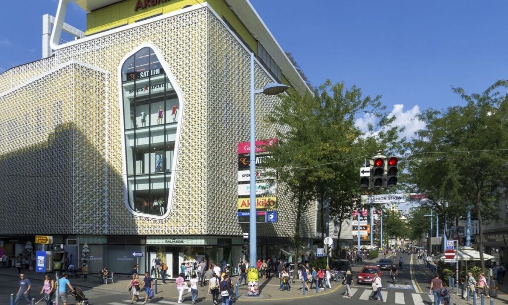 Das Kaufhaus Gerngroß in der Mariahilferstr. in Wien