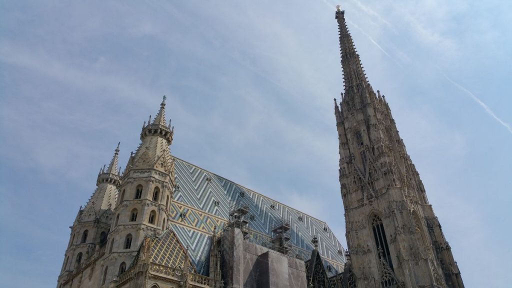The roof of St. Stephen's Cathedral in Vienna