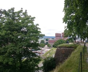 View from Akershus Fortress to Oslo City Hall