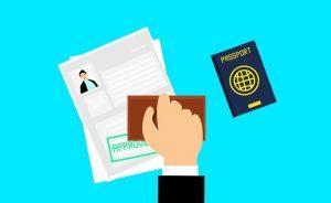 mit einem gültigen Visum einreisen