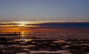 Wattenmeer vor dem Sonnenuntergang