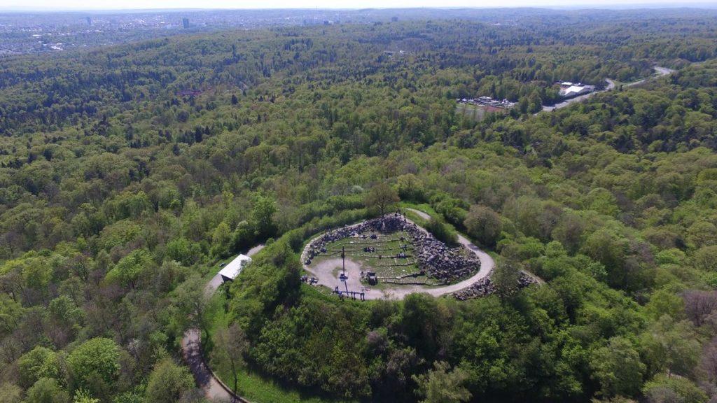 Luftaufnahme vom Birkenkopf in Stuttgart